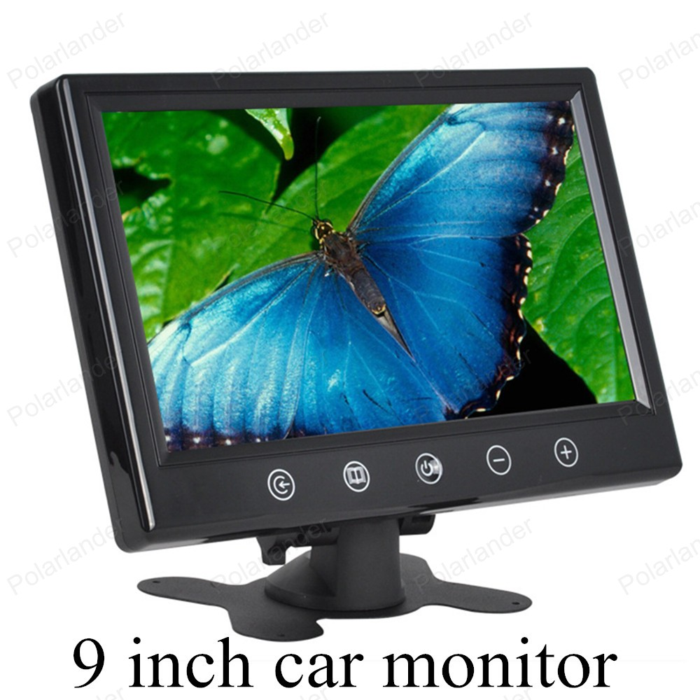 car monitor 7 inch Color TFT LCD with 2 Video input screen for rear view camera backup parking digital small display shipping(China (Mainland))
