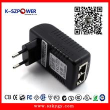Free shipment 10pcs/ctn desktop AC DC 48V0.5A POE spliter for IP camera (P series)(China (Mainland))