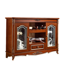 American Village Beautifully carved Sideboard fashion simple red wine cupboard (China (Mainland))