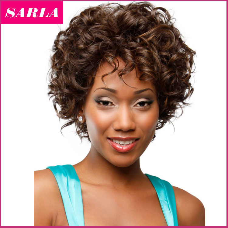 Free Shipping 1pc Short Natural Wig Curly Wigs Synthetic
