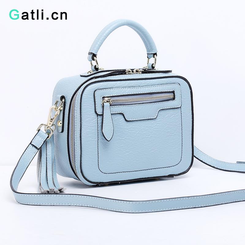 GATLI.CN women handbag candy tote small shoulder bag genuine leather handbags women messenger bags ladies designer crossbody bag(China (Mainland))