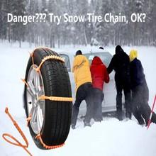 10pcs/set Car Winter Snow Tire Anti-skid Chains Thickened Beef Tendon Vehicles Wheel Antiskid TPU Chain Free Shipping(China (Mainland))