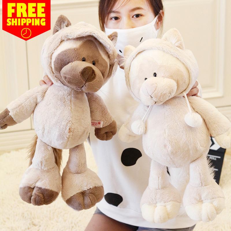 35CM High Quality super soft plush toy nici Genuine civet cats cute plush toys For Children's Gift 1pcs(China (Mainland))