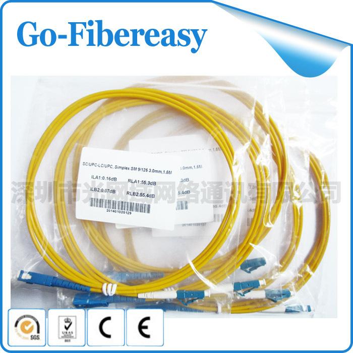 1.5m Fiber Patch Cord SC LC Single-Mode Simplex cables 3.0mm  -  Shenzhen GoFibereasy Network Communication Co.,LTD store