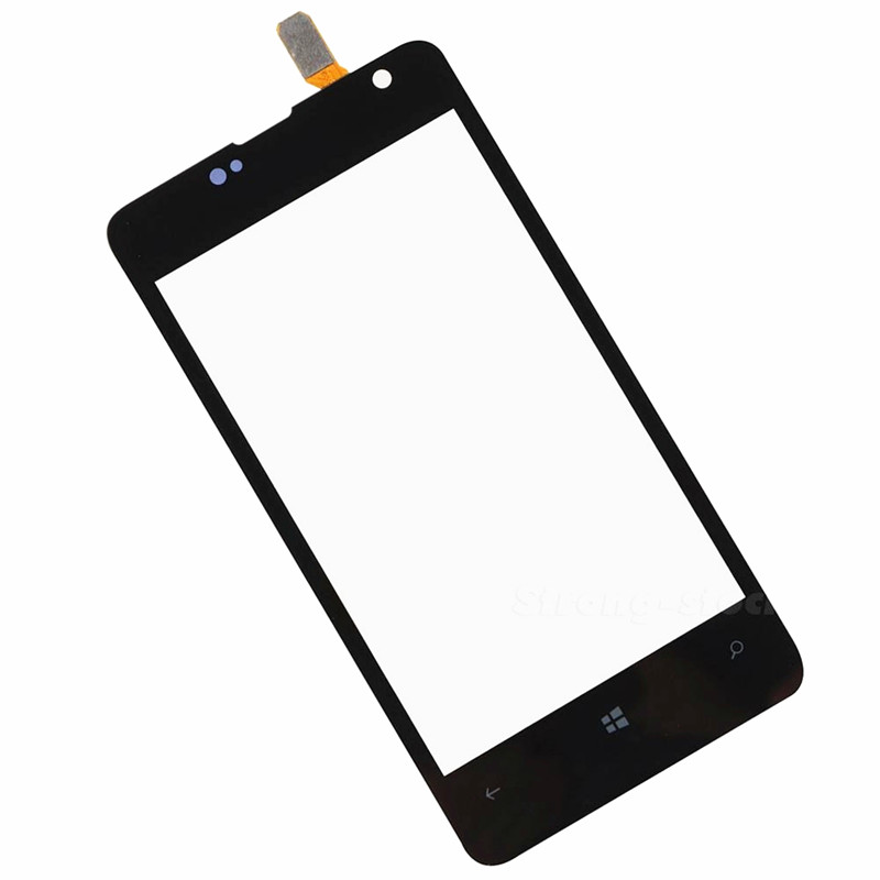 10pcs Free Shipping 100% tested grade A Touch Screen Panel Sensor Lens Glass Digitizer Touch Screen For Nokia Lumia 430 N430