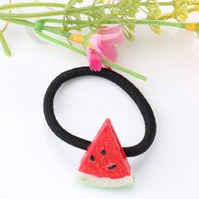 New Summer Style font b Girls b font Elastics Hair Tie Fruit Pattern Cherry Banana scrunchy