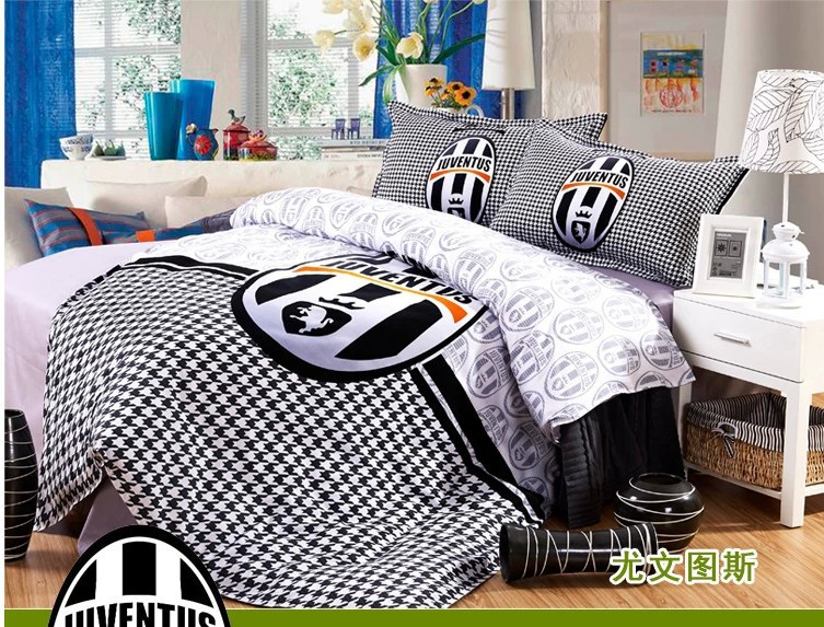 100 Cotton Kids Boys Juventus Bedding Sets Bed Covers
