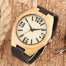 Clearly Big Number Nature Wood Quartz Watch Women Men Luxury Japan Movement Handmade Bamboo Wristwatches Special Birthday Gifts(China (Mainland))