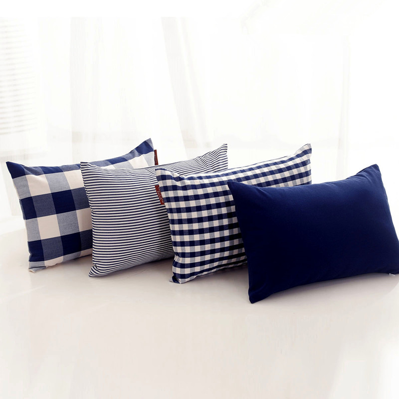 Europe Modern Ikea Navy Blue Plaids Stripe Solid Cushion  : Europe Modern Ikea Navy Blue Plaids Stripe Solid Cushion Throw Pillow Cover Bed Set Decorate For from www.aliexpress.com size 800 x 800 jpeg 96kB