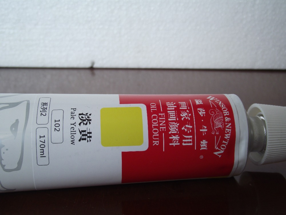 pale yellow 170 ML oil paints Winsor&newton Special oil paint for painter(China (Mainland))