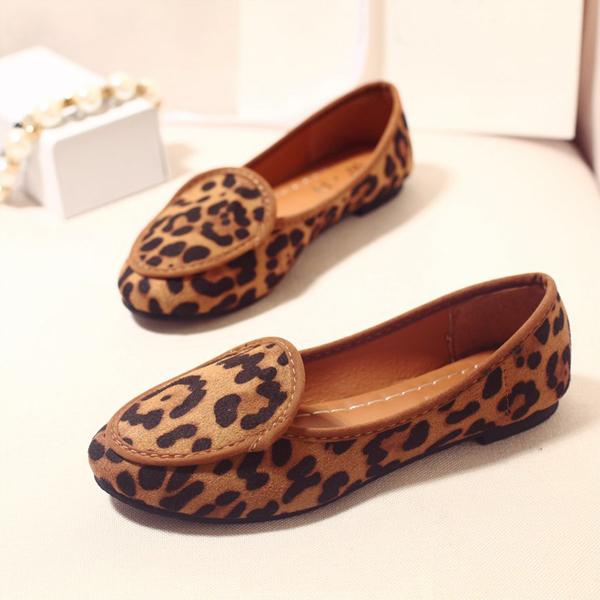 2015 leopard print flat shoes Moccasins female comfortable maternity casual flat shoes heel single casual women shoes LI33H(China (Mainland))