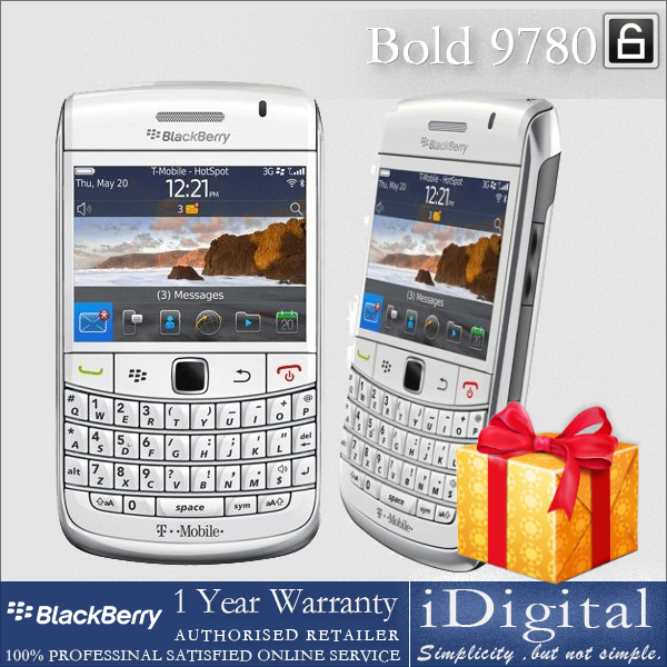 "Original BlackBerry Bold 9780 Mobile Phone 2.44"" Screen 5MP GPS 3G WIFI QWERTY Keyboard Factory Unlocked Refurbished(China (Mainland))"
