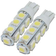 2X Hot sales T10 13 SMD W5W LED 5050 Super Bright Car led light 194  light 13SMD auto light  for car reserve light(China (Mainland))