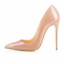 Brand Shoes Woman High Heels Pumps Red High Heels 12CM Women Shoes High Heels Wedding Shoes Pumps Black Nude Shoes Heels B-0043(China (Mainland))