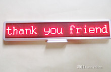 """21""""x4"""" Red Programmable LED Moving Scrolling Message Display Sign Indoor Board(China (Mainland))"""