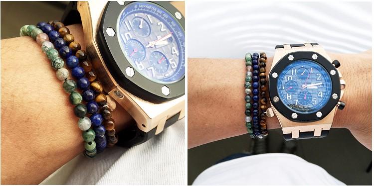 18 - 21 см может настроить агат браслеты мужской браслет 925 серебряных PL круглый браслет мужчины природа камень лето