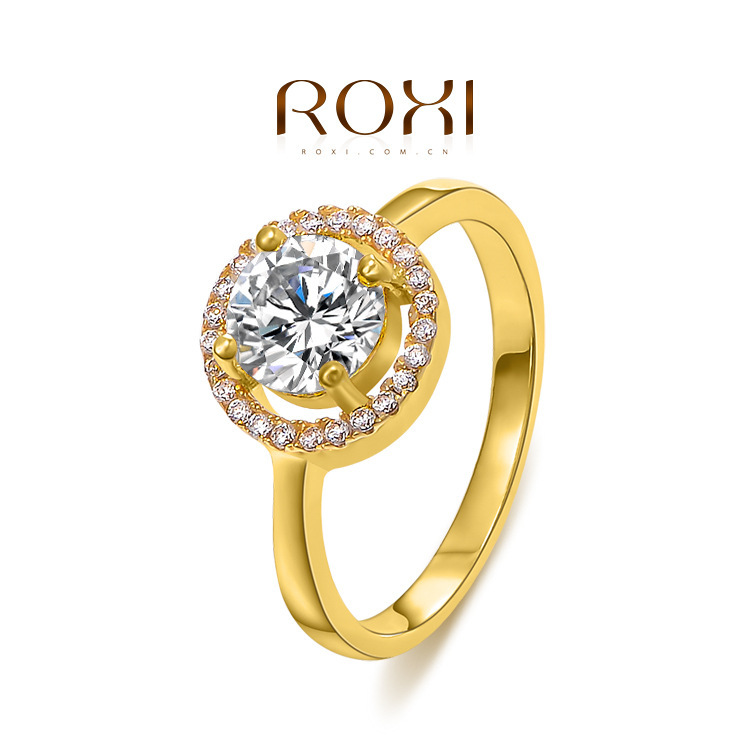 Fashion New ROXI Women Luxury Rings Gold Plated Crystal CZ Wedding Statement Jewelry Lover's Gift Woman - W-Watch store
