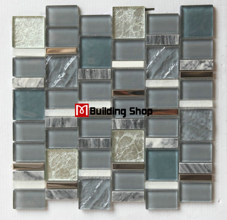 buy 3d glass stone mosaic kitchen