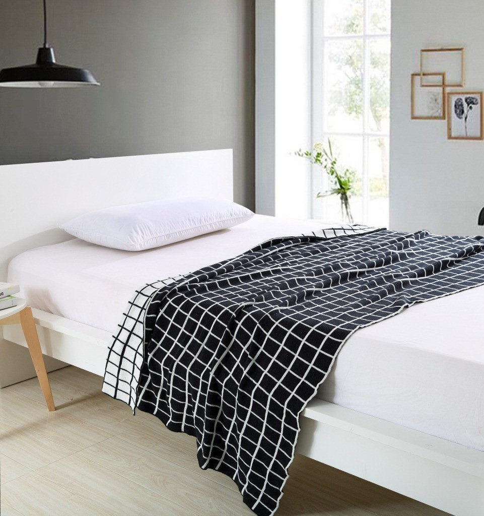 Free Shipping New Plaid blanket Knitted cotton blanket on the bed / sofa car blanket Wholesale Mantas Cobertores,150cmx200c