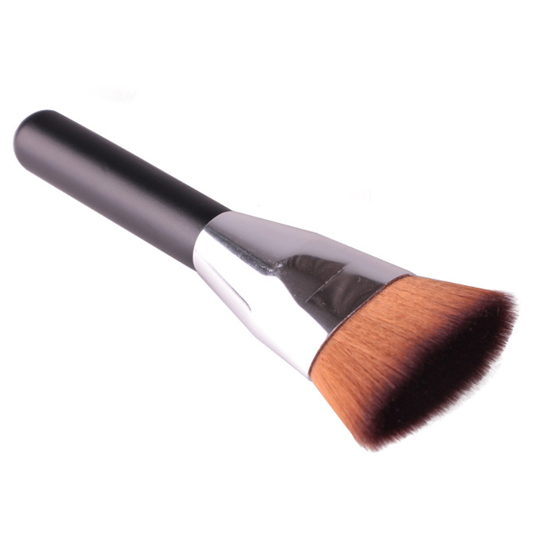 Lady Professional Soft Flat Beauty Powder Blush Foudation Liquid Makeup Brush Head Contour Cosmetic(China (Mainland))