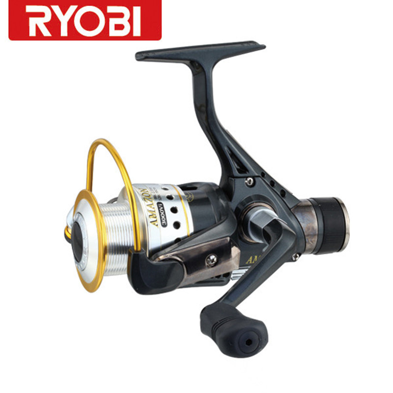 100 ryobi fishing reel rear drag carretilha para pesca for Discount fishing reels