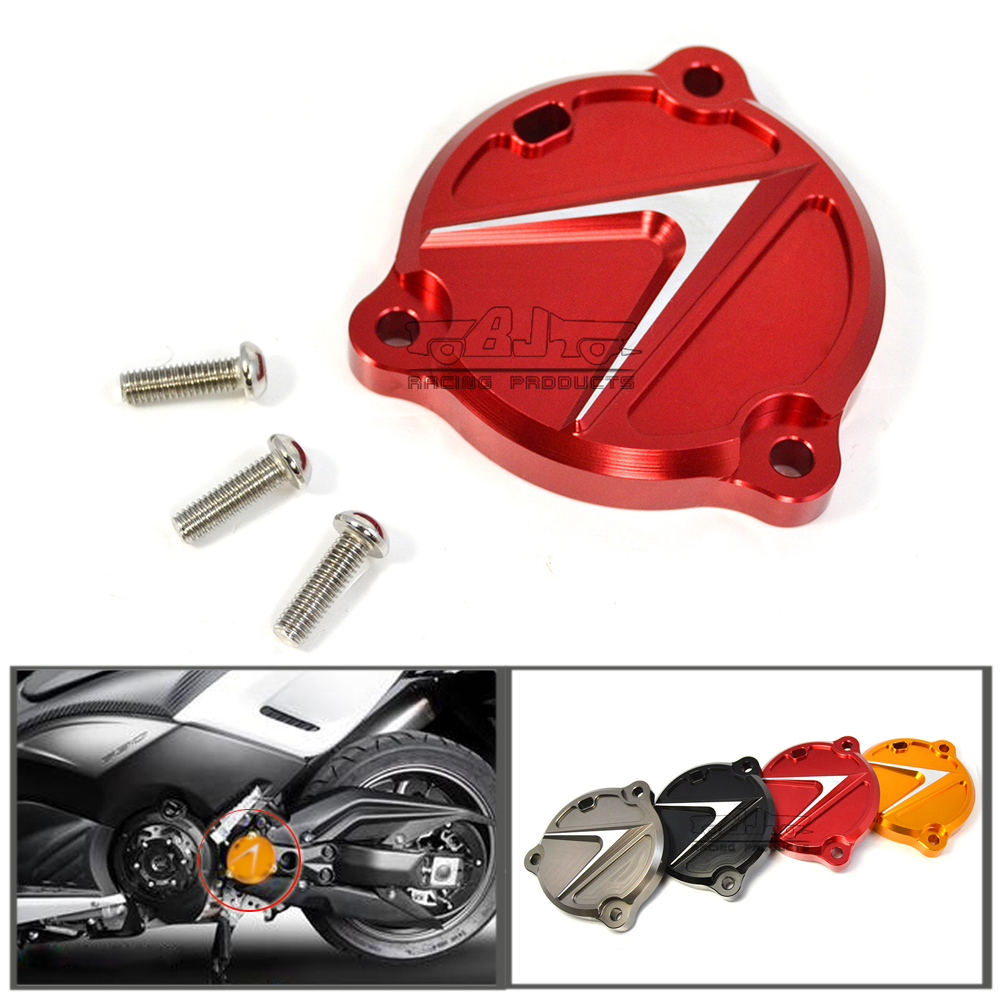 FHC-YA002-RD High Quality Red Motorcycle Parts CNC Aluminum Frame Hole Cover Front Drive Shaft Cover Guard For Yamaha T-max 530(China (Mainland))