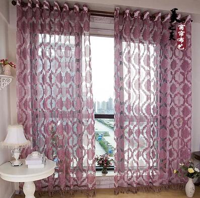Promotion Jacquard Window Curtain Yarn Organza Gauze Tulle Voile Sheer Cheap