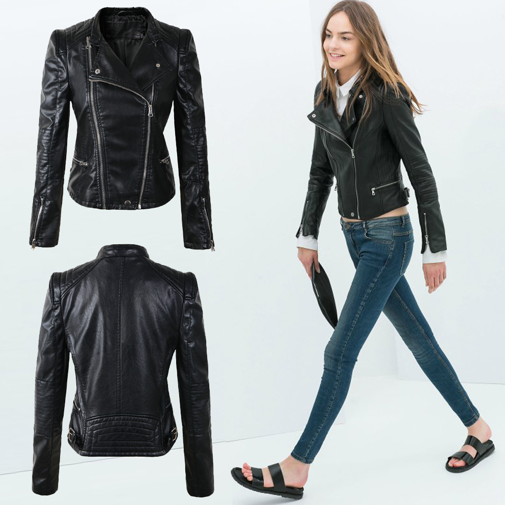 Bomber leather jacket ladies – Modern fashion jacket photo blog