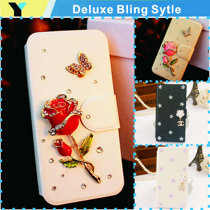 hot Glitter Pu Wallet Luxury case For Samsung Galaxy Pocket S5300 5300 bags Phone Protection Cover drill shell(China (Mainland))