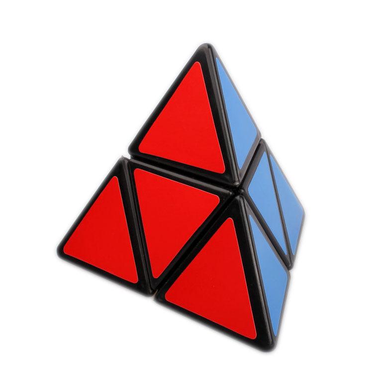 new Mozhi Black 2x2x2 Spring Pyramid Brain Teaser Puzzle Cubes Triangle Alien Magic Cube(China (Mainland))