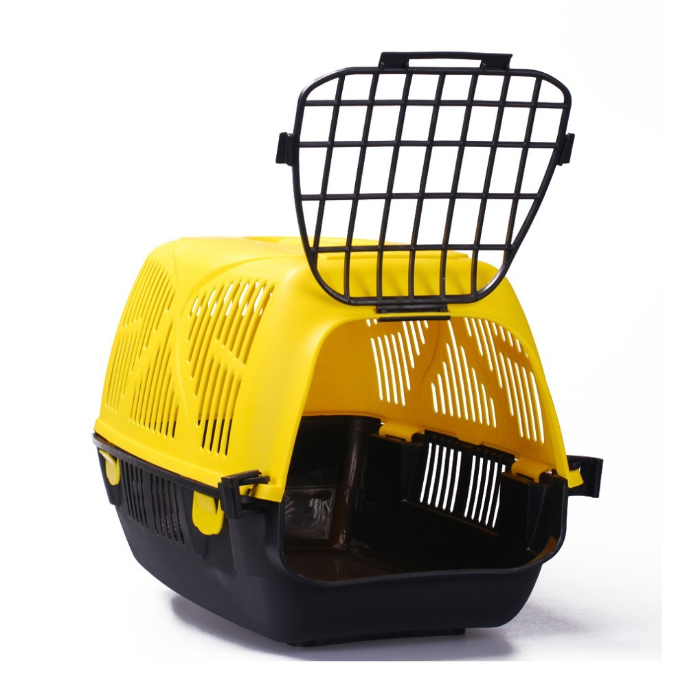 Free Shipping Pet Carrier Portable Cat / Dog Travel Cage Portable Box #6001-EC02(China (Mainland))