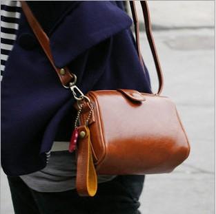 Women Vintage Small Bags Mini Messenger Bag PU Leather Fashion Women Simple Shoulder Bag Evening Handbag 52001(China (Mainland))