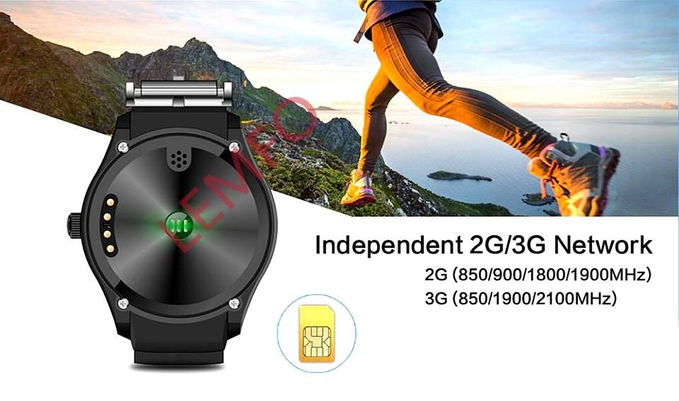 ถูก 2016ใหม่Q3สมาร์ทนาฬิกา400*400 1.39นิ้วAMOLEDแสดงAndroid OS H Eart Rate Monitor FitnessTracker 3กรัมWifi s mart w atchโทรศัพท์