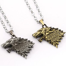 Buy Game Thrones Necklace Song Ice Fire Stark Targaryen Pendant Necklace Friendship Men Women Jewelry Choker Accessories for $1.99 in AliExpress store