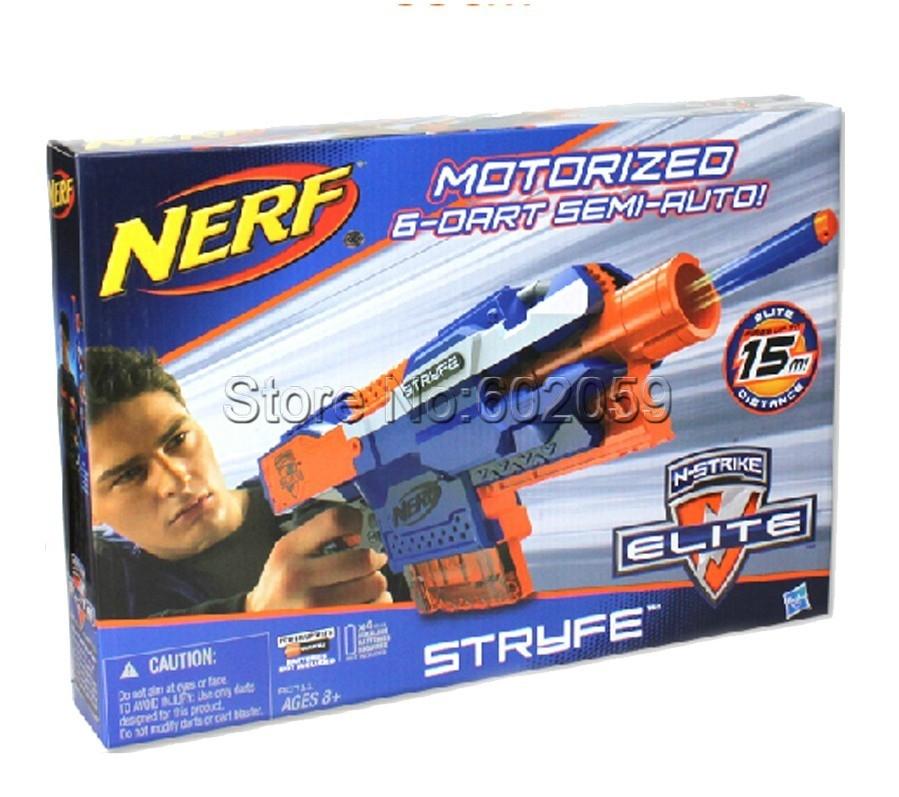 Stryfe Elite Series Motorizied Semi-Auto 6 Darts Blaster 15M Range Soft Bullet Toy Gun - Chen II store