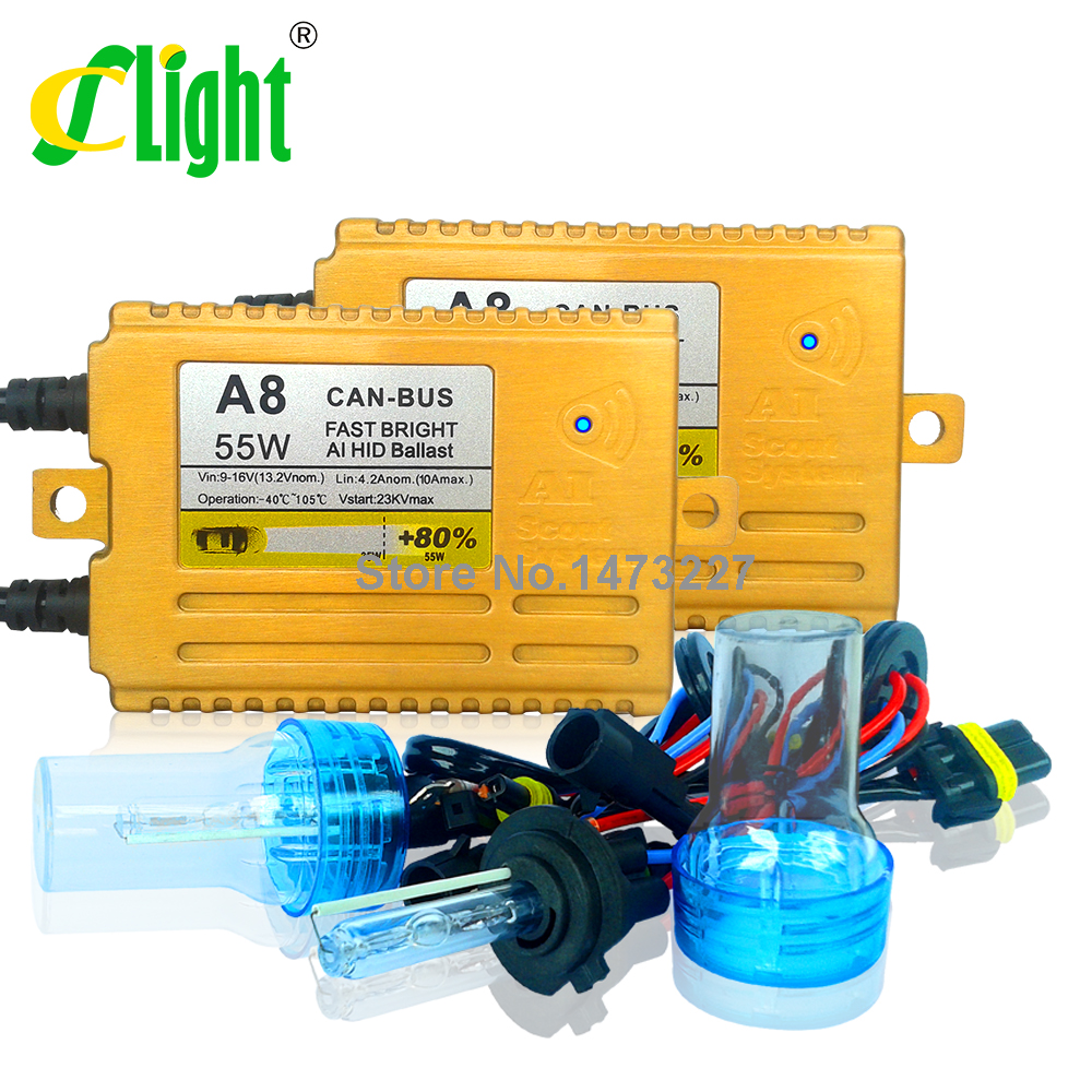 Фотография Xenon HID conversion Kit 55W Canbus Fast Start Bright H1 H3 H7 H11 9006 4300K 6000K 8000K Error Warning Free Xenon Light Styling