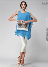 2015 summer casual style women tops blouse &women's  irregular slim chiffon shirt blouse,free shipping(China (Mainland))