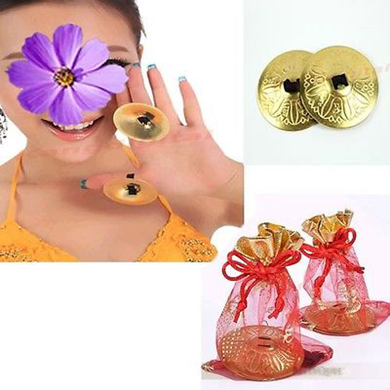 2016 1 Pair Belly Dance Finger Cymbals Zills Belly Dancing Accessories Decoration on Sale(China (Mainland))