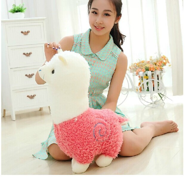 lovely big plush sheep toy creative God beast doll new pink alpaca toy gift about 50cm(China (Mainland))