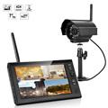 7 inch TFT Digital 2 4G Wireless Cameras Audio Video Baby Monitors 4CH Quad DVR Security
