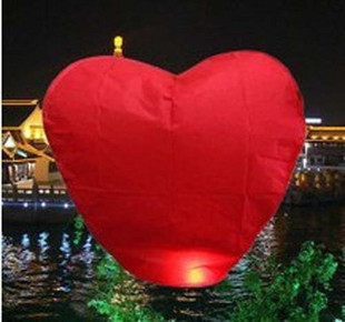 Free Shipping 25pcs/lot heart Sky Lanterns, Wishing Lamp SKY CHINESE LANTERNS BIRTHDAY WEDDING PARTY(China (Mainland))