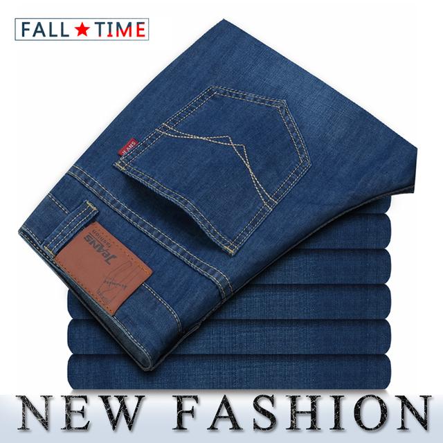 джинсы мужские Горячая продажа Классические прямые чистые джинсы Мужская Марка Высококачественные ...
