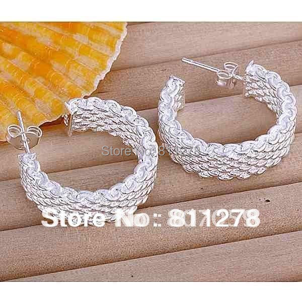 2015 Trendy Women Hot Sale Top Fashion New Brincos Ouro Pendientes Knit Crochet Hoop Earring Fashion Jewelry Earrings Wholesale(China (Mainland))