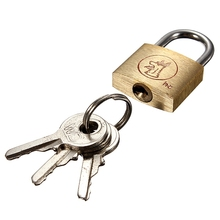 Excellent Quality Brass Padlock Long Shackle Travel Luggage/Suitcase/Gate Lock Security & 3 Keys Durable(China (Mainland))