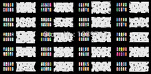 ABEST Reuseable Airbrush Nail Art Stencil 320 DESIGNS - 20 Template Sheets Kit Set 8(China (Mainland))
