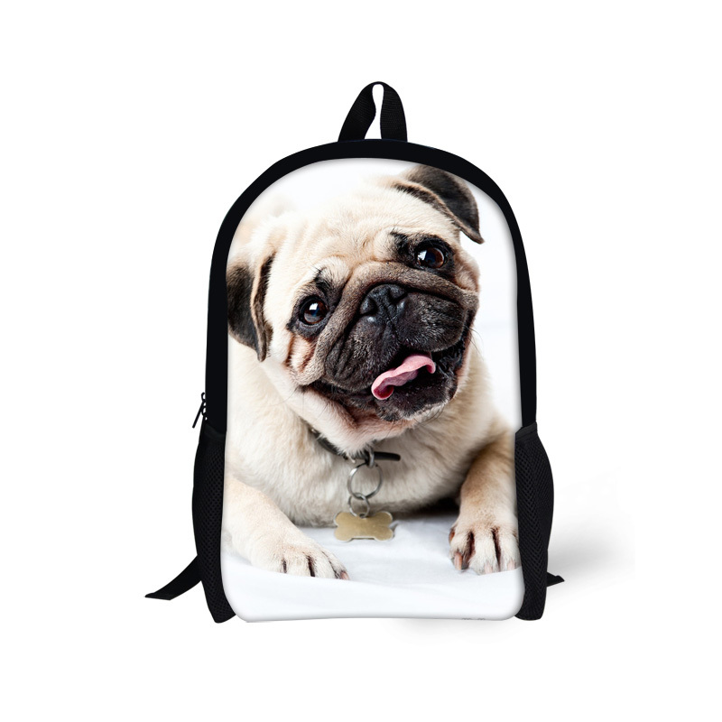 Trendy 16inch 3D Pug Dog Animal Print School Backpack For Teenager Boys Children Outdoor Travel Bckpack Student Backpack Mochila<br><br>Aliexpress