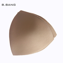 B.BANG Women Insert Sponge Fits for Bras Triangle Pad Breathable Pads Insert Fresh Sponge Pads Breast 5 Pairs 3 Colors