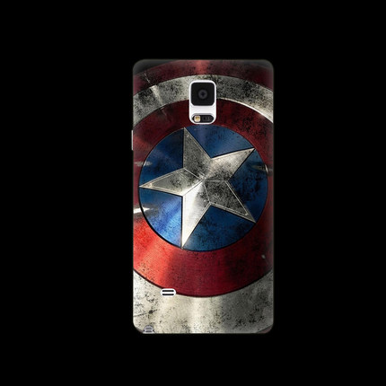 For Samsung Note 4 Case Batman Captain America Logo Series PC Frosted Hard Cover For Samsung Note4 Protector Mobile Phone Cases(China (Mainland))