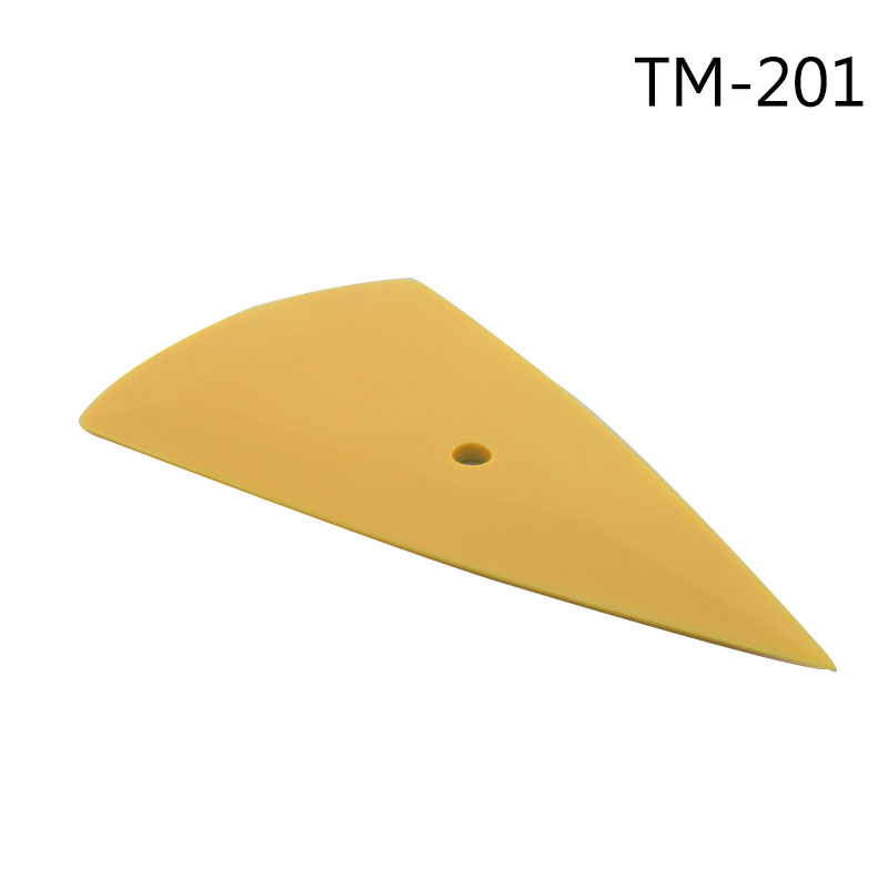Triangle Tint Scraper Car Vinyl Applicator Tools Small Yellow Squeegee For Vinyl Wrapping Free Shipping TM-201 3 pieces(China (Mainland))