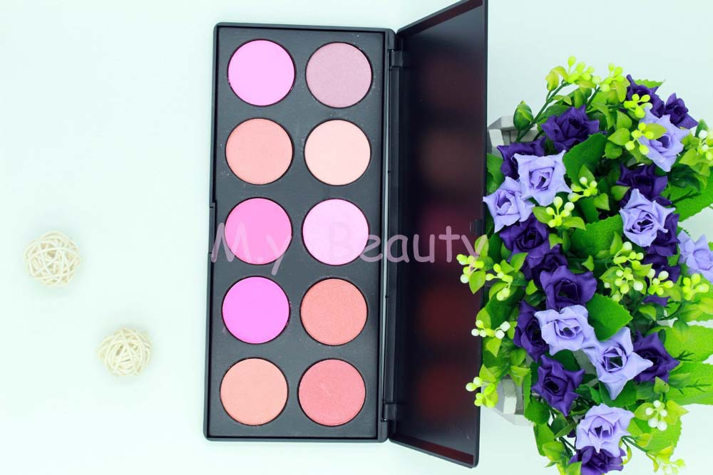 10 cores maquiagem nu flushed highlighter quente cozido mineralizado cosméticos blush paleta de blush lote frete grátis